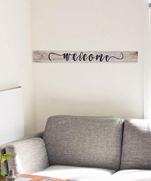 Wood Welcome Sign Made With Reclaimed Wood Perfect For Farmhouse Style Rustic Decor Fixer Upper Character Weathered Grey 48 Inch 0 2 300x360