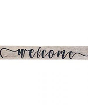 Wood Welcome Sign Made With Reclaimed Wood Perfect For Farmhouse Style Rustic Decor Fixer Upper Character Weathered Grey 48 Inch 0 300x360