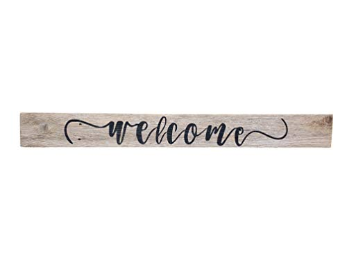 Wood Welcome Sign Made With Reclaimed Wood Perfect For Farmhouse Style Rustic Decor Fixer Upper Character Weathered Grey 48 Inch 0