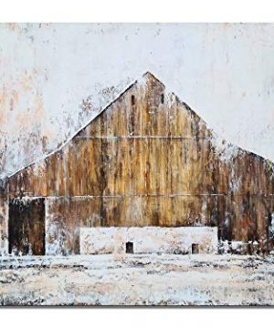YHSKY ARTS Farmhouse Canvas Wall Art Hand Painted Barn Pictures Decor Rustic Country Artwork Modern Aesthetic Painting For Living Room Bedroom Bathroom 0 0 300x360
