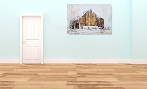 YHSKY ARTS Farmhouse Canvas Wall Art Hand Painted Barn Pictures Decor Rustic Country Artwork Modern Aesthetic Painting For Living Room Bedroom Bathroom 0 3