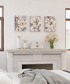 Takfot Rustic Wall Art Flower Canvas Paintings Farmhouse Prints Floral Artwork Gardenia Picture Vintage Home Decor Ready To Hang For Living Room Bedroom Bathroom 1216 Inch 3 Panels 0 0 300x360