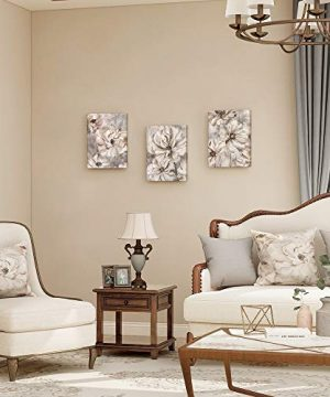 Takfot Rustic Wall Art Flower Canvas Paintings Farmhouse Prints Floral Artwork Gardenia Picture Vintage Home Decor Ready To Hang For Living Room Bedroom Bathroom 1216 Inch 3 Panels 0 2 300x360