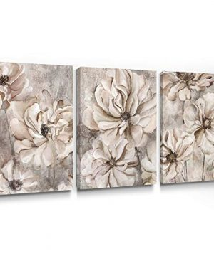 Takfot Rustic Wall Art Flower Canvas Paintings Farmhouse Prints Floral Artwork Gardenia Picture Vintage Home Decor Ready To Hang For Living Room Bedroom Bathroom 1216 Inch 3 Panels 0 300x360