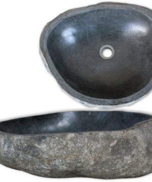 VidaXL Basin River Stone Oval 149 177 Washbowl Bowl Sink Washroom Basin 0 300x360