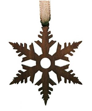2020 New Wood Wooden Ornament Snowflake Christmas Wine Bottle Pendant Hanging Decoration Small Gift Chalet Home Office Winter Deco Black Walnut Contour Style Natural Grosgrain Ribbon Made In Canada 0 300x360
