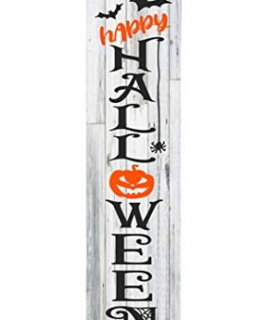 24 Inch 2 Foot Tall Happy Halloween Vertical Wood Print Sign 0 300x360