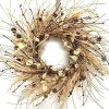 24 Inch Fall Winter Pip Berry Wreath Autumn Artificial Eucalyptus Front Door Wreath Orange Flower Pinecones Ivory Foliage Mixed Wreath On Farmhouse Grapevine For Wall Window Decoration Home Decor 0 100x100
