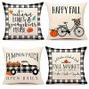 4TH Emotion Fall Decor Pillow Covers 18x18 Set Of 4 Buffalo Check Pumpkin Farmhouse Decorations Autumn Market Outdoor Fall Pillows Decorative Throw Cushion Case For Home Couch TH005 18 0 100x100