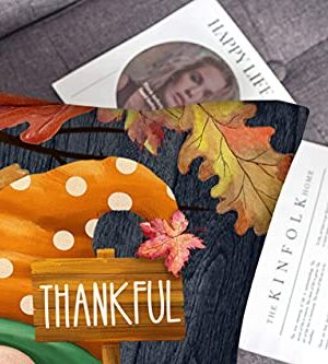 4TH Emotion Fall Decor Pillow Covers 18x18 Set Of 4 Thanksgiving Pumpkin Farmhouse Decorations Gnomes Scarecrow Outdoor Happy Fall Pillows Decorative Throw Cushion Case For Home Couch TH016 18 0 0 300x333