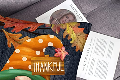 4TH Emotion Fall Decor Pillow Covers 18x18 Set Of 4 Thanksgiving Pumpkin Farmhouse Decorations Gnomes Scarecrow Outdoor Happy Fall Pillows Decorative Throw Cushion Case For Home Couch TH016 18 0 0
