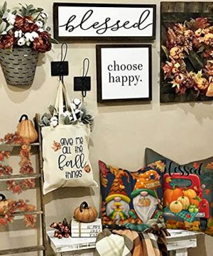 4TH Emotion Fall Decor Pillow Covers 18x18 Set Of 4 Thanksgiving Pumpkin Farmhouse Decorations Gnomes Scarecrow Outdoor Happy Fall Pillows Decorative Throw Cushion Case For Home Couch TH016 18 0 2 300x360