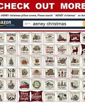 AENEY Christmas Decorations Pillow Covers 18x18 Set Of 4 Farm Fresh Tree Red Truck Rustic Winter Holiday Throw Pillows Farmhouse Christmas Decor For Home Xmas Cushion Cases For Sofa Couch A282 0 5 300x360