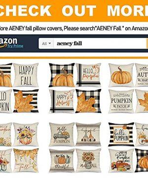 AENEY Fall Pillow Covers 18x18 Set Of 4 For Fall Decor Buffalo Plaid Pumpkin Maple Leaf Fall Pillows Decorative Throw Pillows Farmhouse Thanksgiving Autumn Cushion Case For Couch A406 18 0 2 300x360