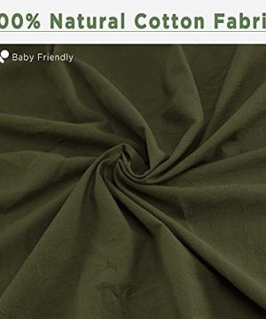 ATsense Duvet Cover King 100 Washed Cotton Bedding Duvet Cover Set 3 Piece Ultra Soft And Easy Care Simple Style Farmhouse Bedding Set Dark Green J8013 0 2 300x360