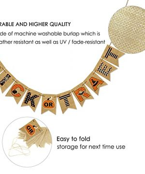 AVOIN Trick Or Treat Banner No DIY Required Chevron Polka Dot Spider Web Bat Pumpkin Witch Hat Rustic Pennant Decoration For Halloween Party Doorway Mantels Wall 0 5 300x360