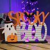 Adroiteet Halloween Decorations Tabletop Boo Ghost Pumpkin Signs 135 X 95 Wooden Metal Trick Or Treat Party Table Centerpieces For Home Room Office 0 100x100