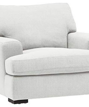 Amazon Brand Stone Beam Lauren Down Filled Oversized Living Room Accent Armchair 46W Pearl 0 300x360