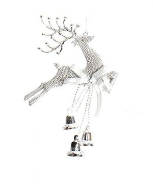 Amoin Christmas Tree Ornaments Reindeer Shape Ornaments Christmas Baubles Family Party Decoration Gifts Silver 0 300x360
