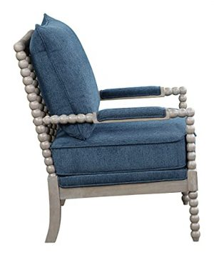 Ave Six Abbott Spindle Accent Chair With Padded Spring Seat And Brushed Grey Base Azure Blue Fabric 0 300x360