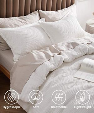 Bedsure Cotton Duvet Cover Set 100 Cotton Waffle Weave Coconut White Duvet Cover Twin Size Soft And Breathable Twin Duvet Cover Set For All Season Twin 68x90 0 1 300x360