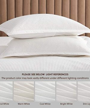 Bedsure Cotton Duvet Cover Set 100 Cotton Waffle Weave Coconut White Duvet Cover Twin Size Soft And Breathable Twin Duvet Cover Set For All Season Twin 68x90 0 2 300x360