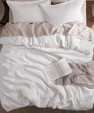 Bedsure Cotton Duvet Cover Set 100 Cotton Waffle Weave Coconut White Duvet Cover Twin Size Soft And Breathable Twin Duvet Cover Set For All Season Twin 68x90 0 4 300x360