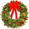 Best Choice Products 24in Pre Lit Battery Powered Christmas Wreath Artificial Pre Decorated Holiday Accent W 70 Lights 96 PVC Tips Ribbons Pine Cones 0 100x100