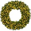 Best Choice Products 48in Large Artificial Pre Lit Fir Christmas Wreath Holiday Accent Decoration For Door Mantel W 200 LED Lights 714 PVC Tips Power Plug In 0 100x100