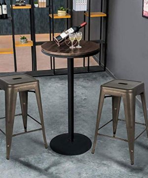 Bonzy Home Bar Stools Set Of 4 24 Inches Metal Bar Stools Stackable Counter Height Barstools Farmhouse Barstool For Kitchen IndoorOutdoor Backless Bar Stools Gunmetal 0 0 300x360