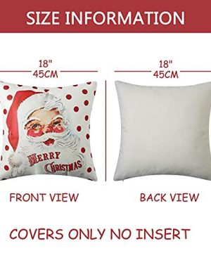 CAROMIO Christmas Pillow Covers 18x18 Set Of 4Farmhouse Christmas Decorations PillowcaseRed Stripe Rustic Xmas Winter Holiday Cushion Case For Home DecorTree Rustic Truck Santa Claus Stocking 0 4 300x360