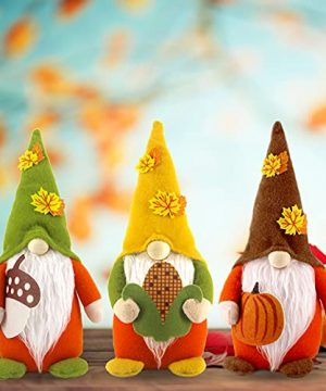 CDLong 3PCS Fall Gnomes Decorations Large Handmade Swedish Tomte Fall Gnomes Plush Decor 3 Color Halloween Christmas Thanksgiving Decorations Fall Decor For Home Farmhouse Office 0 300x360