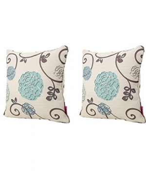 Christopher Knight Home 301589 Ippolito Fabric Pillows 2 Pcs Set White And Blue Floral 0 300x360