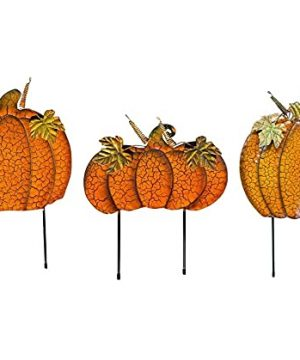 Clovers Garden Halloween Fall Outdoor Yard Decorations Pumpkin Metal Yard Signs With Stakes Fall Thanksgiving Lawn Walkway Or Planter Rustic Home Decor Set Of 3 Style B 0 300x360
