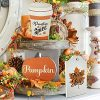 Cocomong Fall Tiered Tray Signs Rustic Farmhouse Serving Tray Decorations For HomeHello Fall Pumpkin Wood Sign Set Of 3 Kitchen Table Decor Maple Leaf Wooden Block Autumn Fall Decorative Supplies 0 100x100