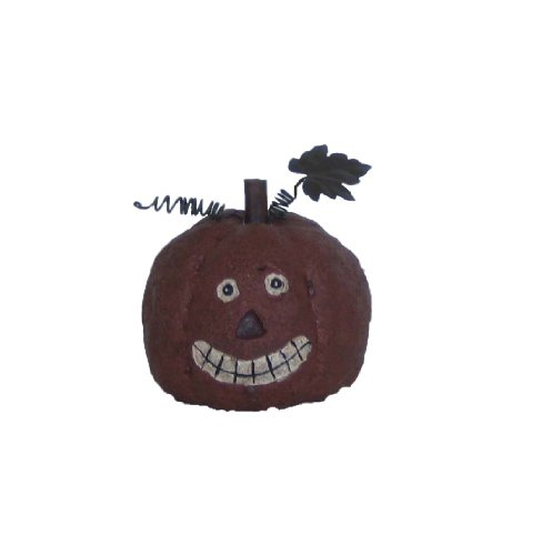Craft Outlet Papier Mache Pumpkin Jack Lantern Figurine 4 Inch Set Of 2 0