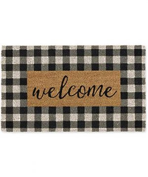 DII Natural Coir Doormat Checkers Mat Checkers Welcome 18X30 0 300x360