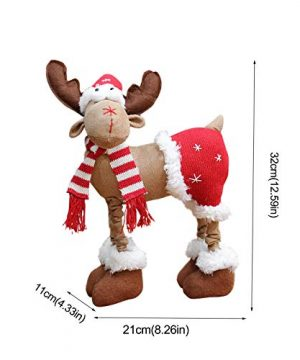 DUOQIN 2020 Personalized Christmas Moose House Ornament Reindeer Plush Rustic Plaid Moose Stuffed Animal Gift Home Ornaments B 0 1 300x360