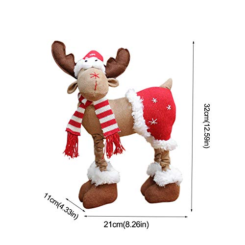 DUOQIN 2020 Personalized Christmas Moose House Ornament Reindeer Plush Rustic Plaid Moose Stuffed Animal Gift Home Ornaments B 0 1