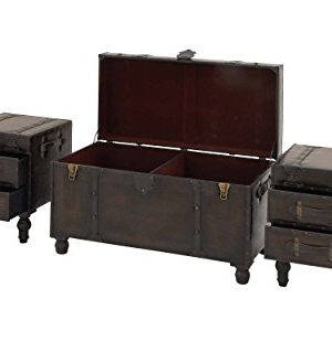 Deco 79 Wood Leather Trunks Set Of 3 361616 0 2 300x309
