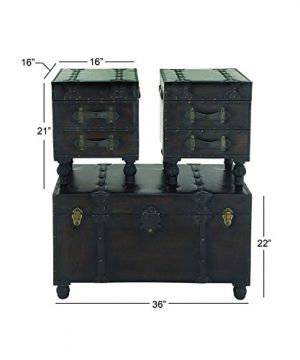 Deco 79 Wood Leather Trunks Set Of 3 361616 0 5 300x360