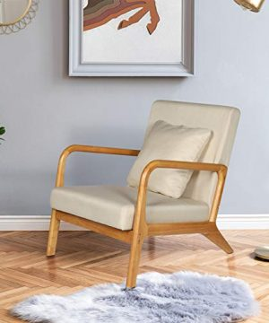 ELUCHANG Mid Century Modern Accent Chairs 256 X 30 X 30Fabric Reading ArmchairAccent Chairs For Living Room BedroomEasy Assembly 0 300x360