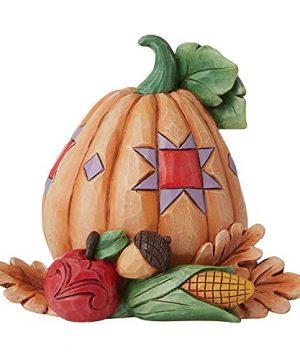 Enesco Jim Shore Heartwood Creek Pumpkin With Bounty Mini Figurine 0 300x360