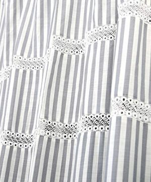 Fabric Shower Curtain Eastern Heavy Duty Cotton Bathroom Shower Curtains With Lace Trims And Ruffled Bottom For Spa Hotel Luxury Stripe Decorative Shower Curtains 72 X 72 Inches White Gray 0 1 300x360