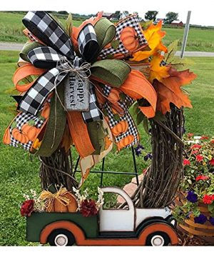 Fall Wreaths For Front Door 1377in Thanksgiving Decorations Farmhouse Wreath Autumn Decor Halloween Wreath For Home Orange 0 300x360