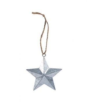 Galvanized Christmas Star Ornaments Set Of 12 35 Inch Rustic Farmhouse Holiday Home Decor 0 300x360