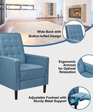 Giantex Set Of 2 Push Back Recliner Chair Modern Fabric Recliner WButton Tufted Back Accent Arm Chair For Living Room Bedroom Home Office Blue 0 2 300x360