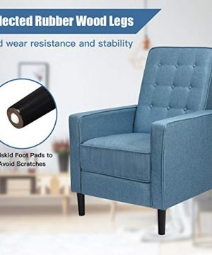 Giantex Set Of 2 Push Back Recliner Chair Modern Fabric Recliner WButton Tufted Back Accent Arm Chair For Living Room Bedroom Home Office Blue 0 3 300x360
