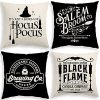 Halloween Decor Pillow Covers 18x18 Set Of 4 Halloween Decorations Hocus Pocus Farmhouse Saying Outdoor Fall Pillows Decorative Throw Cushion Case For Home 0 100x100