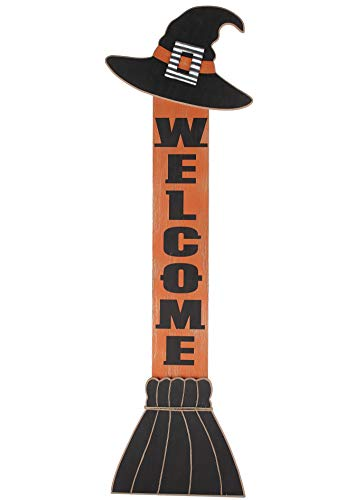 Halloween Witch Hat Welcome Sign For Leaning On The Front Porch 0